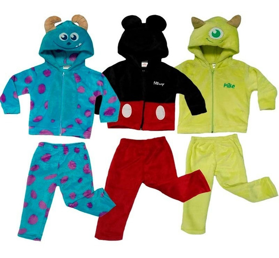 Kit 3 Conjuntos Disney Mickey, Mike, Sulley A Precio De 2