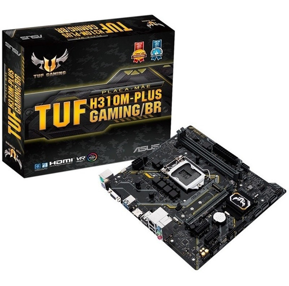 Placa Mãe Asus Tuf H310m Plus Br Gaming 8ª Geração Lga 1151