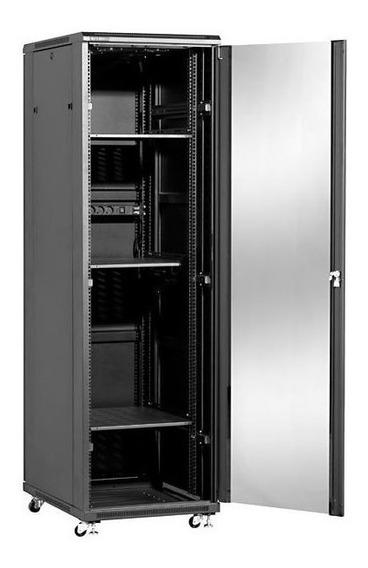 Rack Gabine Para Servidor 42us X 600mm C/ Porta De Vidro Pt