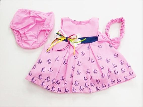 Vestido 3 Piezas Dchavito Bebé Niña 6-24 Meses R