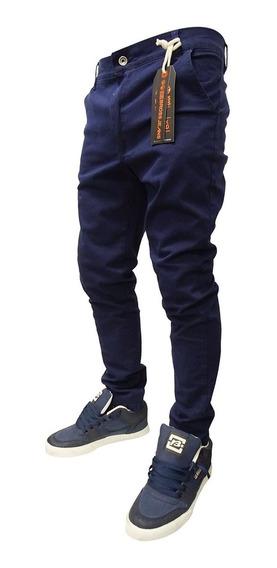 Pantalon De Gabardina Corte Chino Original Bross
