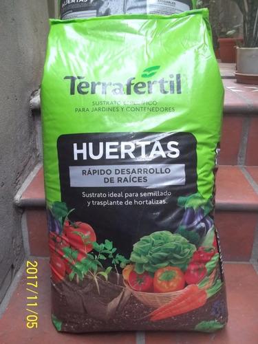 Huerta Sustrato Especial Terrafertil 50 Litros ~jardín Agus~