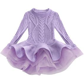 Vestido Inverno Em Lã Com Detalhes Em Organza Tam 3 Aniversá