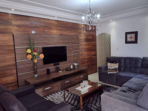 Imagem 1 de 30 de Sobrado À Venda, 257 M² Por R$ 640.000,00 - Parque Das Nações - Santo André/sp - So3233