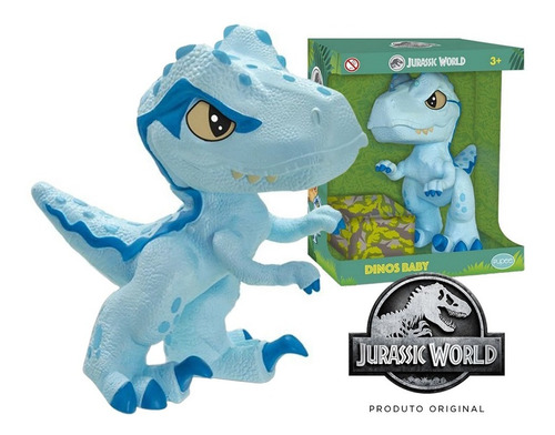 Imagem 1 de 7 de Dinossauro Articulado Dino Baby Raptor Blue - Jurassic World