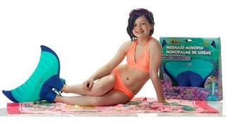 Mono Aleta Sirena Body Glove Unixex Azul & Goggles Infantil