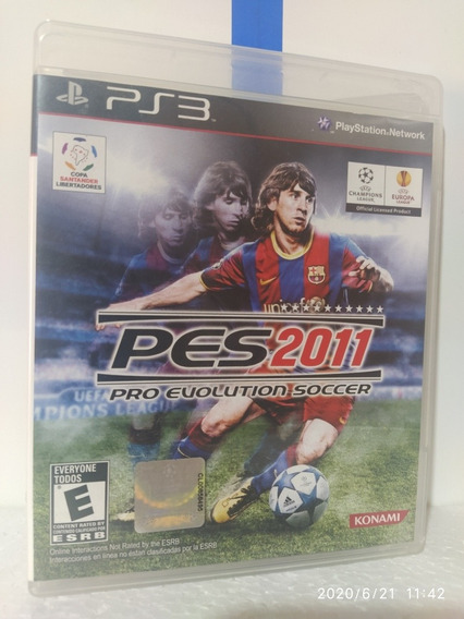 Pes 2011 Pro Evolution Soccer Ps3 Original Com Encarte