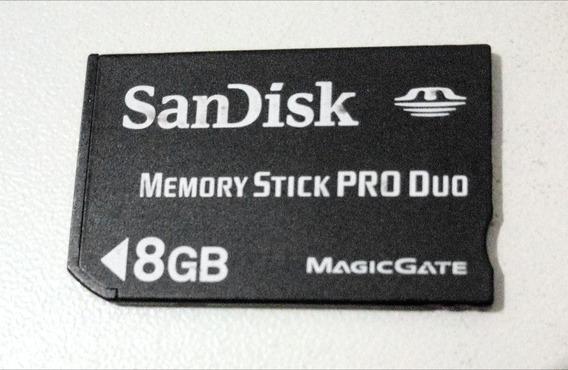 Cartão De Memória Memory Stick Pro Duo 8gb