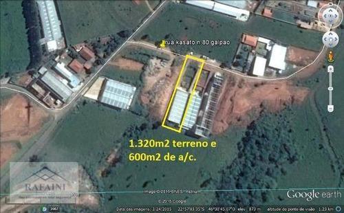 Galpão À Venda, 600 M² Por R$ 950.000,00 - Penha - Bragança Paulista/sp - Ga0107