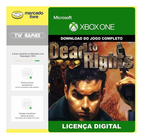 Dead To Rights Digital Retrocompativel Xbox One