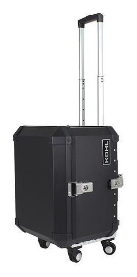 Baúl Trasero Kohl Trolley Case 58 Lts Aluminio Negro Mh&s