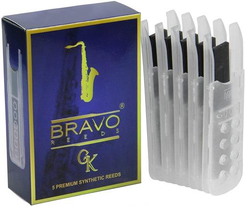 Bravo Br-ts25 Juncos Sintéticos Para Para Saxofón Tenor, Fue