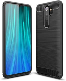 Estuche Forro Carbono Xiaomi Redmi Note 8 Pro - Negro