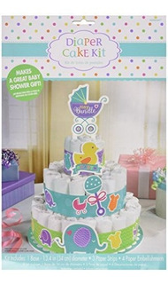 Amscam Baby Shower Inferior Pañal Pastel Kit 13 14 Multicol