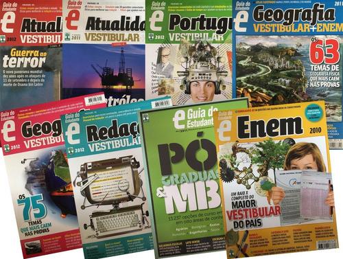 Kit Com 8 Revistas Guia Do Estudante Vestibular+enem 1