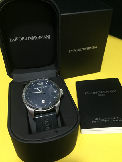 Relógio Masculino Emporio Armani Orologi Preto Original 0687