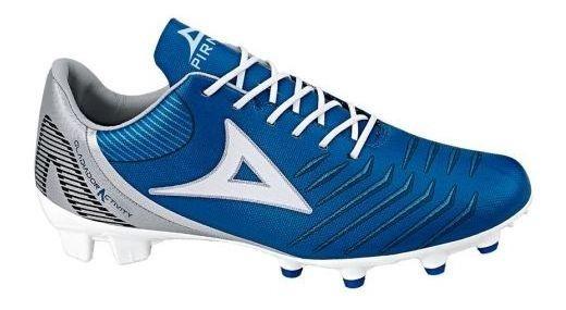 Tenis Deportivo Para Futbol Pirma Brasil 3019 Azul/ Gris