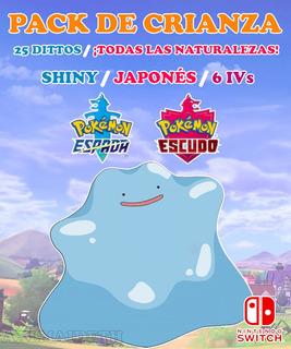 Pack De Crianza / Dittos 6 Iv - Pokémon Escudo Espada Switch