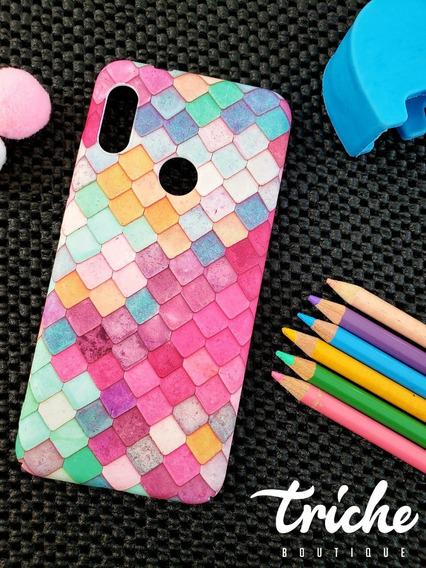 Funda Case Mosaico Colores Sirena Dama Xiaomi Mi A2 Lite