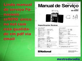 Lindo Manual De Serviço Panasonic Ss9090 Ss 9090 Em Pdf