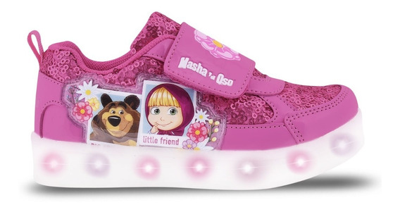 Zapatillas Masha Y El Oso Luces Led Usb Footy 117 118 Manias