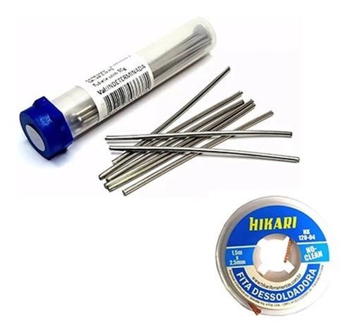 Imagem 1 de 3 de Kit Vareta Salva Chip 50g + Malha Dessoldadora 2,5mm Hikari