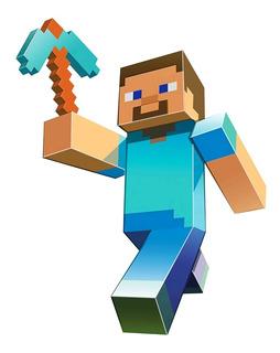 Minecraft Personajes - Sticker Adhesivo Gigante