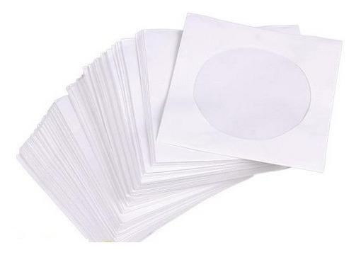 100 Capas Envelopes Cd Dvd Em Papel Com Visor Transparente