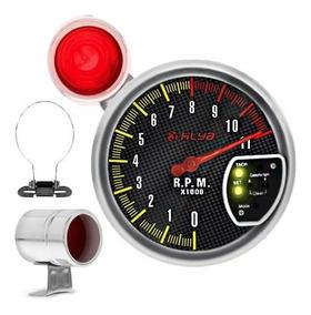 Velocímetro Conta Giro Rpm Led 7 Core Monometro Turbo Shift