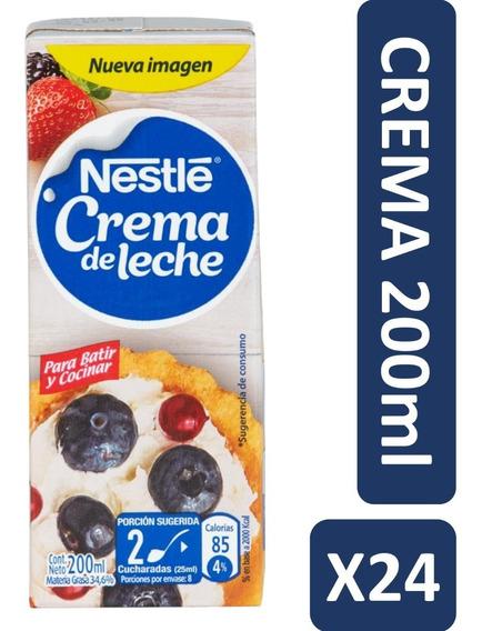 Crema De Leche Nestle 200g Pack X24