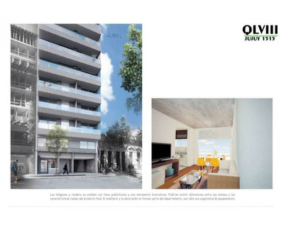 Rosario: Jujuy 1515 Piso 5 Dto C O 3 - Departamento De 1 Dormitorio Al Contrafrente Con Balcon - 40,83 M2, Santa Fe, Argentina