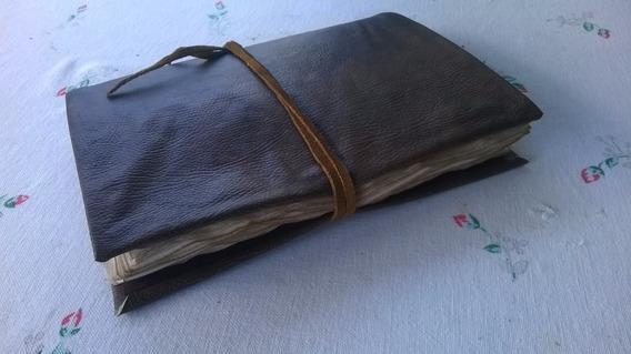 Sketchbook Estilo Harry Potter Marrom Folhas Envelhecidas