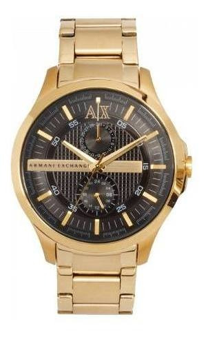 Relógio Hx1924 Armani Exchange Ax2122 Dourado Preto / Caixa