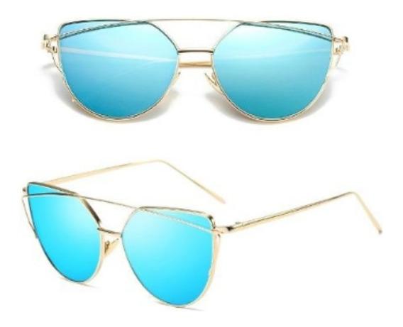 Óculos De Sol Feminino Starlight Espelhado + Case + Flanela