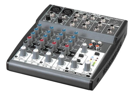 Mesa De Som Mixer Behringer Xenyx 802 8 Canais 110v