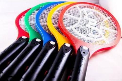 4 Raquetes Elétrica Mata Mosquito Dengue Inseto Recarregável