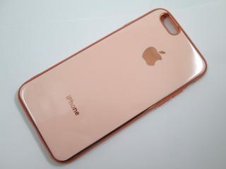 Capa Tpu C/ Logo iPhone 6 6s Plus Rose Preta Red Cinza Slim