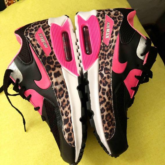 Tenis Nike Airmax 38 Onça Pink