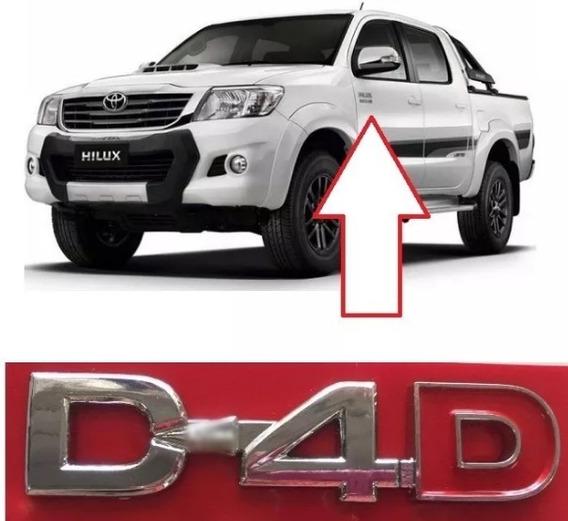 Emblema Letreiro Cromado D4d D-4d Hilux Sw4 2005/2015 Toyota