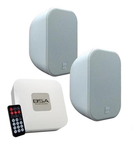 Kit Fácil Bsa Aw6-w Branca+amplificador Bluetooth/usb/sdcard