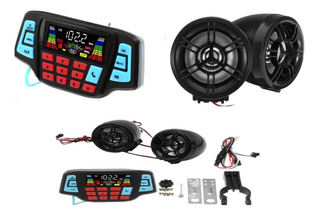 Bocina Para Motocicleta Fm, Mp3 Sd Usb Bluetooth