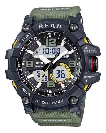 Relógio Masculino Militar Exército Relógio Digital Com Led