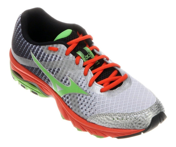 Tenis Mizuno Wave Elevation Treino Cinza Original + Nota