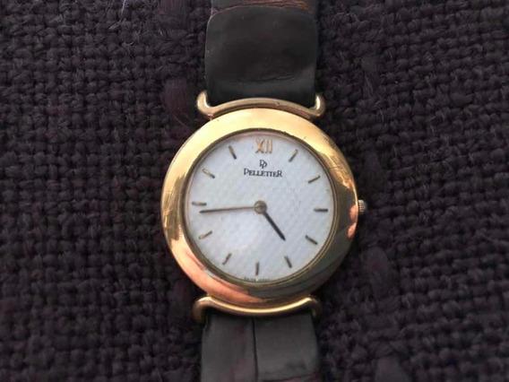 Reloj Pelletier Paris P/caballero Vintage Correa De Piel