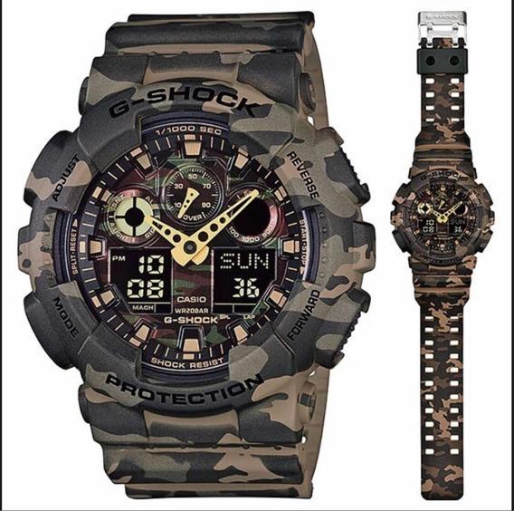 Relógio Cassio Gshock Ga100 Camuflado Original