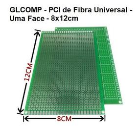 Placa Uma Face 02 Pçs Fibra Perfurada Arduino 8x12cm Carta
