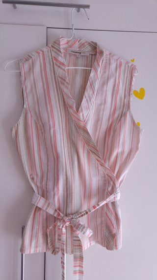 Camisa Mujer Sin Mangas Marca Comma Talle 44 Impecable!