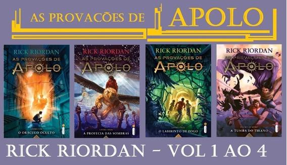 Coleção As Provações De Apolo 04 Volumes / Rick Riordan