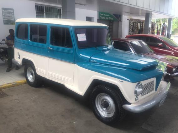 Rural Willys 4x4 6 Cil. 1964 Azul E Branco Toda Restaurada