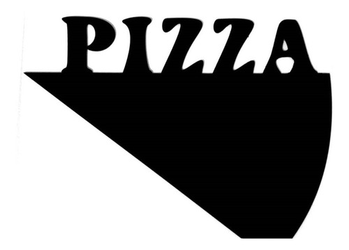 Placa Lousa Memo Blackboard Pizza 30cm